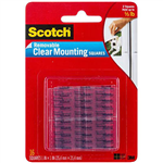 SCOTCH 859 MOUNTING SQUARES REMOVABLE 254MM CLEAR PACK 16