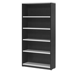 OXLEY BOOKCASE 5 SHELF 900 X 315 X 1800MM WHITEIRONSTONE