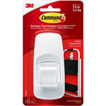 COMMAND ADHESIVE JUMBO HOOK WHITE PACK 1 HOOK AND 4 STRIPS