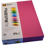 QUILL COVER PAPER 80GSM A4 FLUORO PINK PACK 500