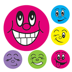 AVERY 69618 MERIT STICKERS MINI SMILEY FACE 13MM ASSORTED COLOURS PACK 800       MPC3