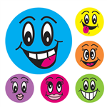 AVERY 69619 MERIT STICKERS SMILEY FACE 43MM ASSORTED COLOURS PACK 102
