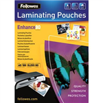 FELLOWES IMAGELAST LAMINATING POUCH GLOSS 80 MICRON A5 CLEAR PACK 100