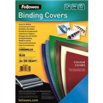 FELLOWES CHROMOLUX BINDING COVER GLOSS 250GSM A4 BLUE PACK 100