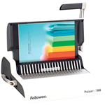 FELLOWES PULSAR 300 MANUAL BINDING MACHINE PLASTIC COMB WHITE