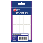 AVERY 932018 MULTIPURPOSE STICKERS RECTANGLE 14 X 38MM WHITE PACK 105
