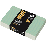 OLYMPIC RULED SYSTEM CARDS 100 X 150MM GREEN PACK 100
