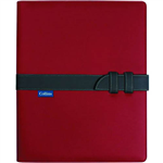COLLINS CONFERENCE PORTFOLIO WITH STRAP CLOSURE A4 REDCHARCOAL