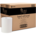 LIVI ESSENTIALS ROLL TOWEL 1 PLY 100M CARTON 16 1202
