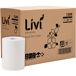 LIVI ESSENTIALS ROLL TOWEL 1 PLY 80M CARTON 16 1200