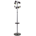ALBA COAT RACK STAND 3 SILVER  BLACK