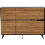 NOVARA CABINET 6 DOOR 1825 X 425 X 1750MM ZEBRANO TIMBER VENEER