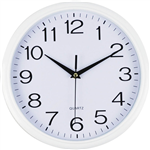 ITALPLAST WALL CLOCK 300MM GLASS WHITE