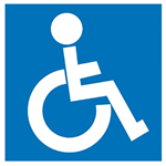 APLI DISABLED SELF ADHESIVE SIGN BLUE AND WHITE