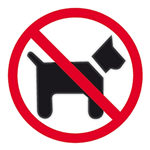 APLI DOGS FORBIDDEN SELF ADHESIVE SIGN