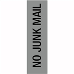 APLI NO JUNK MAIL SELF ADHESIVE SIGN SILVER