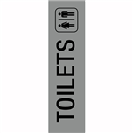 APLI TOILETS SELF ADHESIVE SIGN SILVER