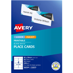 AVERY 982503 C32073 FOLDED PLACE CARDS 85 X 50 PACK 40