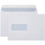 CUMBERLAND C5 ENVELOPES SECRETIVE POCKET WINDOWFACE STRIP SEAL LASER 90GSM 162 X 229MM WHITE BOX 500