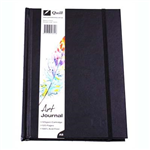QUILL ART JOURNAL HARDCOVER 125GSM 120 PAGES A5 BLACK