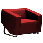 CUBE SOFA LOUNGE SINGLE SEATER RED