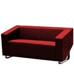 CUBE SOFA LOUNGE THREE SEATER RED