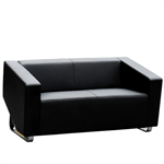 CUBE SOFA LOUNGE TWO SEATER BLACK