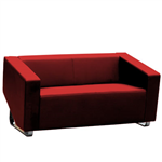 CUBE SOFA LOUNGE TWO SEATER RED