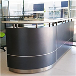 EXECUTIVE RECEPTION COUNTER 2750 X 950 X 1150MM METALLIC GREY