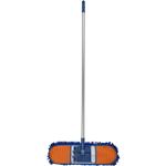 CLEANLINK CHENILLE DUST MOP 600MM WITH 1350MM ALUMINIUM HANDLE BLUE