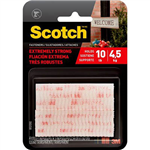 SCOTCH EXTREME FASTENER 25 X 76MM CLEAR PACK 2 PAIRS