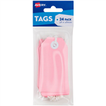 AVERY 13201 TAGIT WITH STRING SIZE 3 PASTEL PINK PACK 24