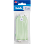 AVERY 13203 TAGIT WITH STRING SIZE 3 PASTEL GREEN PACK 24