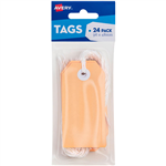 AVERY 13204 TAGIT WITH STRING SIZE 3 PASTEL PEACH PACK 24