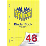 SPIRAX 122 BINDER BOOK 8MM RULED A4 48 PAGE