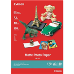 CANON MP101 MATTE PHOTO PAPER 170GSM A3 WHITE PACK 40