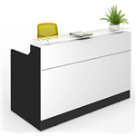 CLASSIC RECEPTION COUNTER 1800 X 850 X 1150MM WHITEBLACK