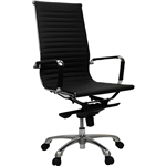 AERO MANAGERS CHAIR HIGH BACK ARMS PU BLACK
