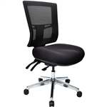 BURO METRO II 247 MESH TASK CHAIR POLISHED ALUMINIUM BASE BLACK