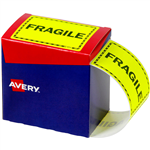 AVERY 932602 MESSAGE LABEL FRAGILE 75 X 996MM FLUORO YELLOW PACK 750