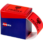 AVERY 932603 MESSAGE LABEL FRAGILE 75 X 996MM FLUORO ORANGE PACK 750