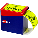 AVERY 932604 MESSAGE LABEL HEAVY 75 X 996MM FLUORO YELLOW PACK 750