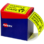 AVERY 932615 MESSAGE LABEL HANDLE WITH CARE 75 X 996MM FLUORO YELLOW PACK 750