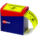 AVERY 932616 MESSAGE LABEL URGENT 75 X 996MM FLUORO YELLOW PACK 750