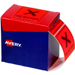 AVERY 932623 MESSAGE LABEL REJECTED 75 X 742MM FLUORO RED PACK 1000