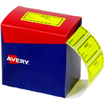 AVERY 932622 MESSAGE LABEL HOLD 75 X 361MM FLUORO YELLOW PACK 2000