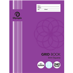 OLYMPIC G2524 GRID BOOK 5MM SQUARES 240 PAGE 55GSM 225 X 175MM