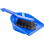 CLEANLINK BROOM AND DUSTPAN SET BLUE
