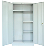 GO SWING DOOR CUPBOARD WARDROBE 910 X 450 X 1830MM SILVER GREY