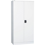GO SWING DOOR CUPBOARD 3 SHELVES 910 X 450 X 1830MM WHITE CHINA
